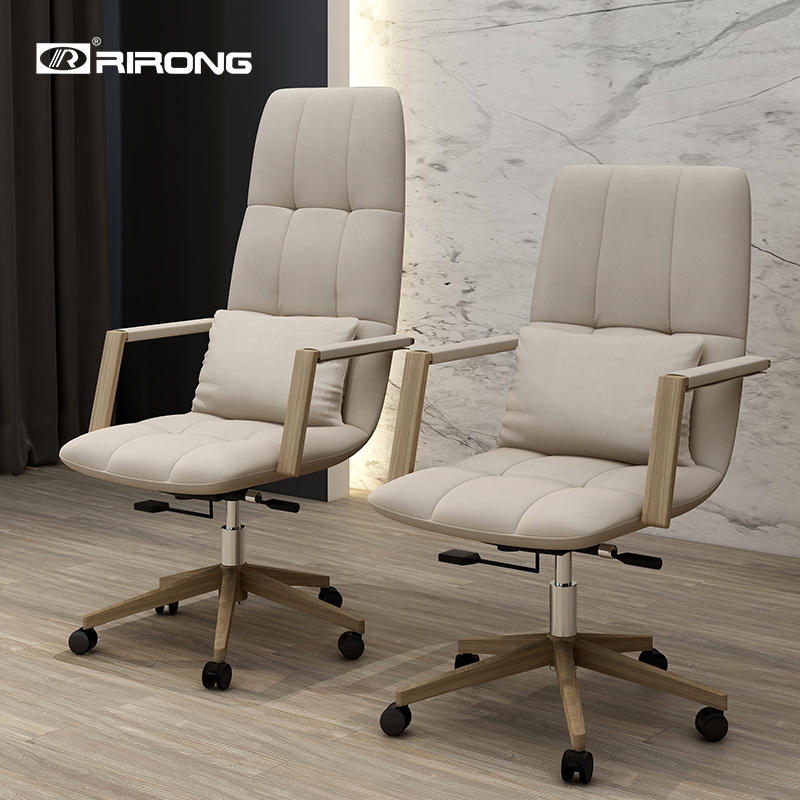 Nordic Furniture Office GINKGO Fabric Leather Computer Boss Manager Swivel Visit Chair Modern Office Chairs Meeting Chair