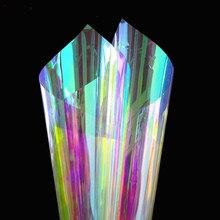 3M Ein Weg Spiegel Fenster Film Reflektierende Dekorative Farbwechsel Schillernden Glas Farbton Regenbogen Wirkung Aufkleber UV Schutz