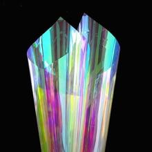 90 x 300 cm window film Decorative Color Changing Iridescent Rainbow Effect Window Sticker