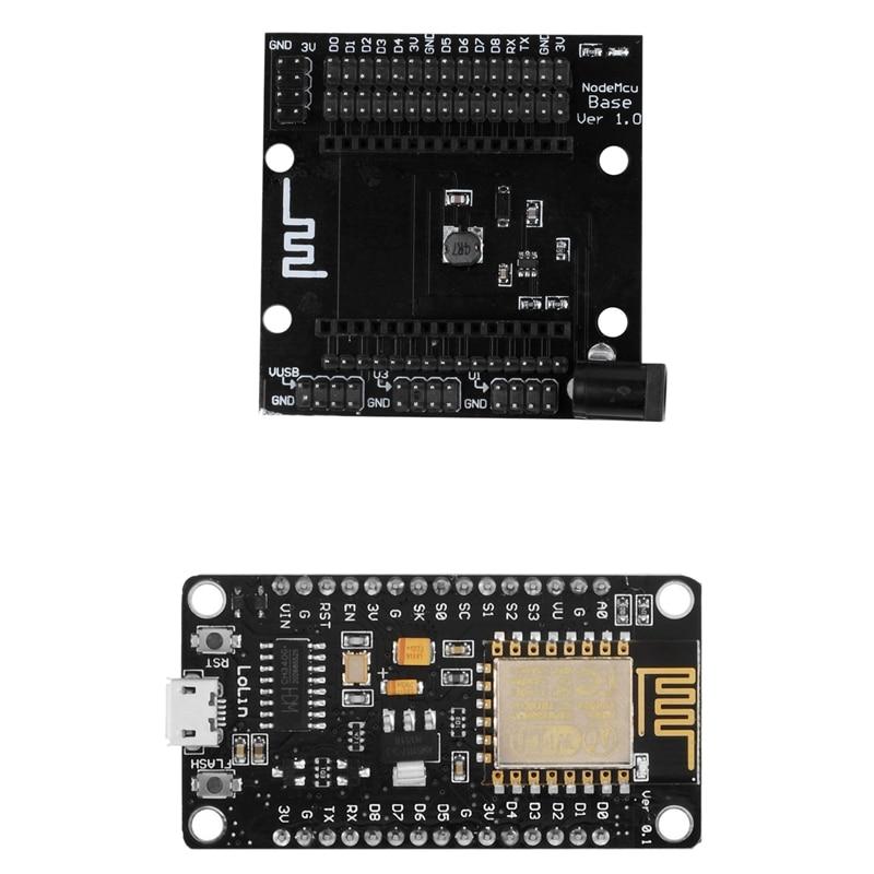2 Pcs For NodeMCU LUA WiFi Networking Based ESP8266 Testing DIY Board: 1 Pcs MCU Module For LoLin V3 & 1 Pcs MCU Module For Ardu
