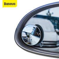 Baseus 2 piezas coche 360 grados HD punto ciego convexo espejo Auto retrovisor gran angular vehículo estacionamiento espejos sin montura
