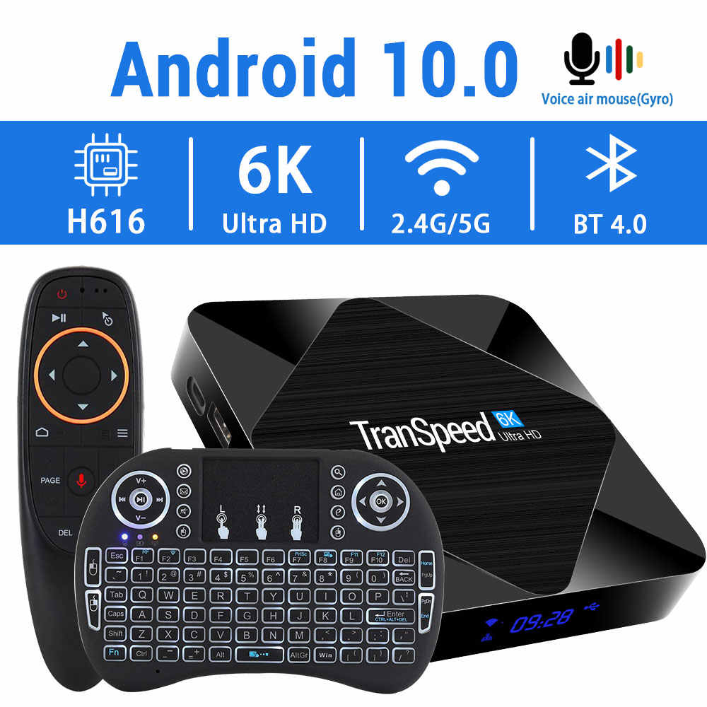2020 Android 10.0 Tv Box 2.4G & 5.8G Snelle Wifi 6K 4K Google Assistent H616 Quad core 16 Gb 32 Gb 64 Gb Mediaspeler Set Top Tv Box