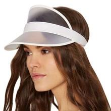 12 цветов унисекс летний солнцезащитный щит шляпы на открытом воздухе прозрачный солнцезащитный колпачок водонепроницаемый Snapback модные регулируемые мужские женские шапки