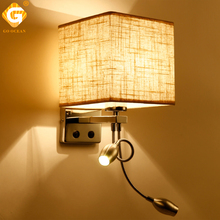 Wall Lights Lamp Sconce Switch Stairs Light Indoor Luminaires Fixture E27 Bulb Bedroom Decor Modern Bedside Lighting For Home
