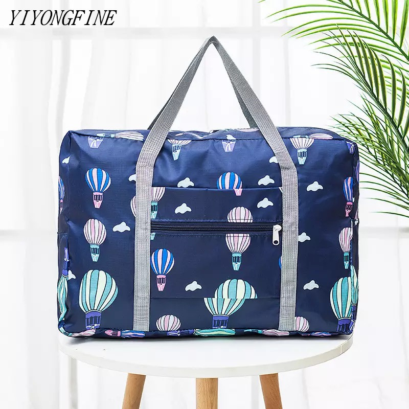 New Nylon Foldable Duffel Bag Travel Organizer Weekend Bags Portable Suitcases And Large Travel Bag Women Quitte Bags Pink Tote