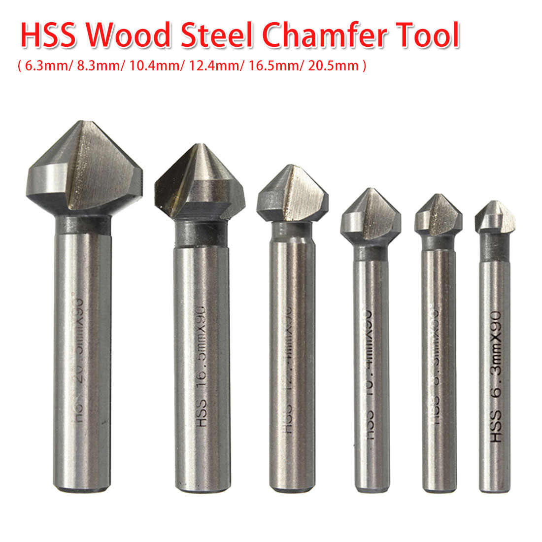 Steel Countersink Drill Bit Hand Power Tools Three Edge Chamfer Cutter Tool