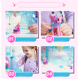 Image 4 - מקורי מותג הקטן שלי צעצועי פוני ידידות הוא קסם טירת קריסטל חליפת לתינוק קטן חג המולד יום הולדת מתנת ילדה Bonecas