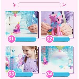 Image 4 - Originele Merk My Little Pony Speelgoed Friendship Is Magic Kasteel Kristal Pak Voor Kleine Baby Kerst Verjaardagscadeau Meisje Bonecas