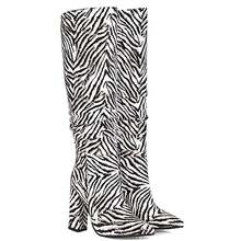 Супер высокий и толстый каблук острый носок сапоги до колена