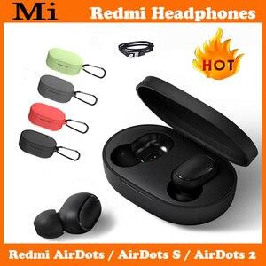 Original Xiaomi Redmi Airdots 2 s TWS Bluetooth Earphone Stereo bass BT 5 Eeadphones With Mic Handsfree Earbuds AI Control Pro 2