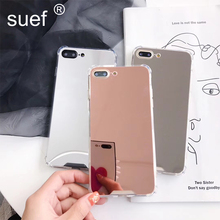suef Mirror Case For iPhone 11 Pro Max XR X XS Max Luxury Shockproof Case For iPhone 7 8 6 6s Plus Back Cover Coque Funda new for iphone 11 pro max case xs max xr for iphone x 6 7 8 plus 6s luxury vintage pu leather back ultra thin case cover coque