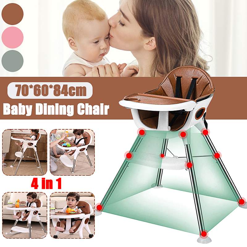 3 in 1 Convertible Baby Seat High Chair Kids Table Chair Adjustable Height Dinner Table Multifunction Baby Toddler Rocking Seat