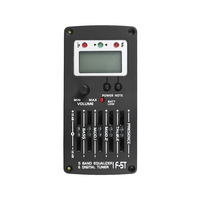 5 Band EQ Pre Amp Equalizer Pickup Acoustic Guitar Preamplifier Piezo Pickup with LCD Tuner and Volume Control