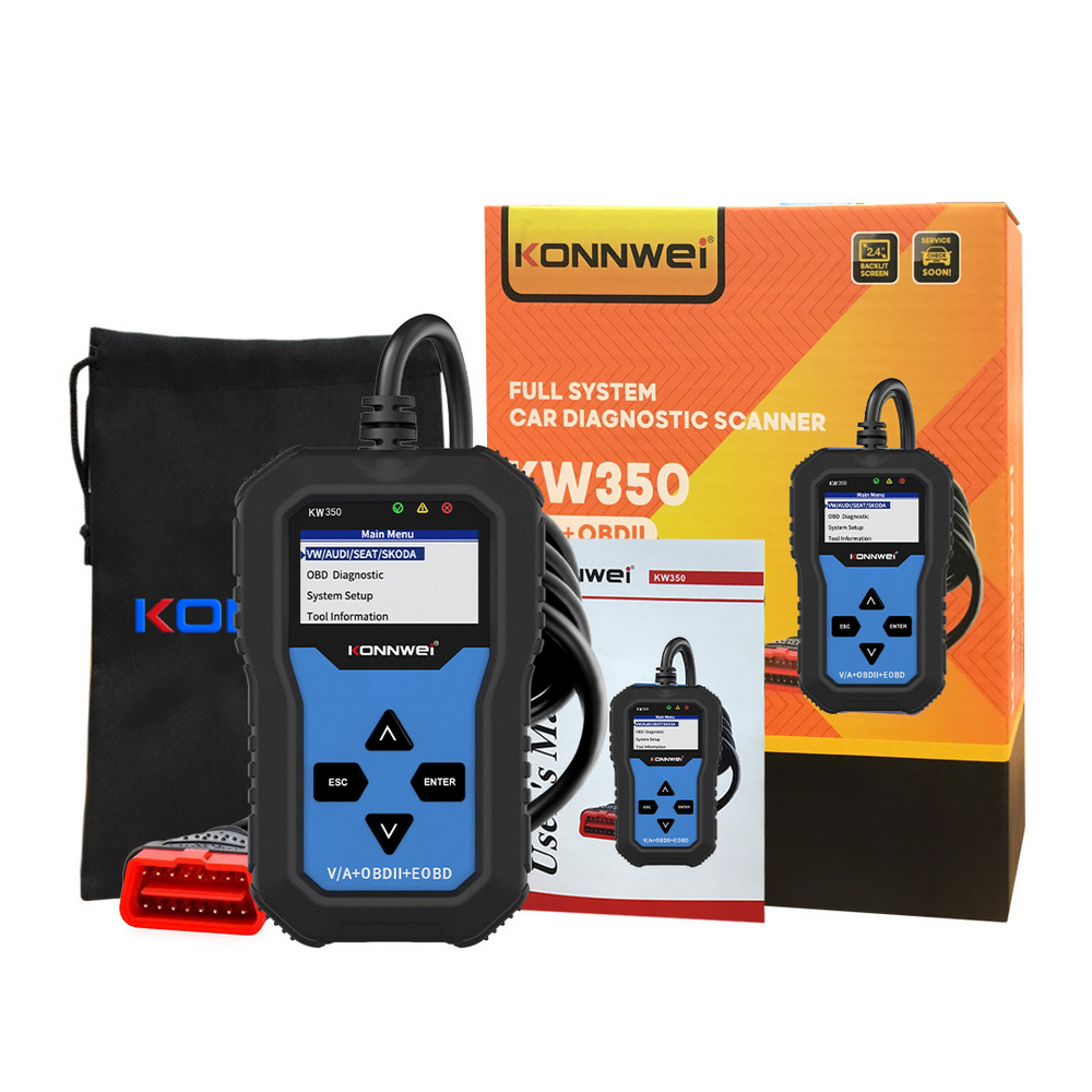 OBD2 Scanner KONNWEI KW350 V007 For V'W For A'udi Car Diagnostic Tester Scanner Scanner Car Diagnostics