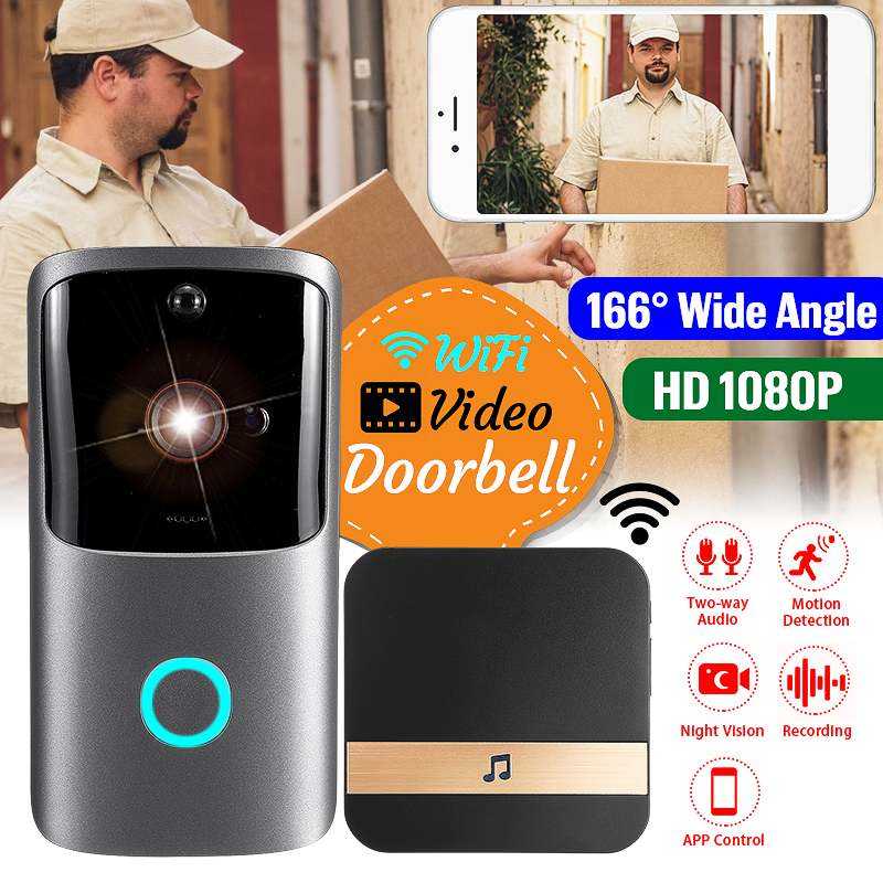 M10 Video Doorbell Wireless 720P/ 15fps 100MP WIFI XSH CAM /UBELL-APP Two-Way Voice Intercom