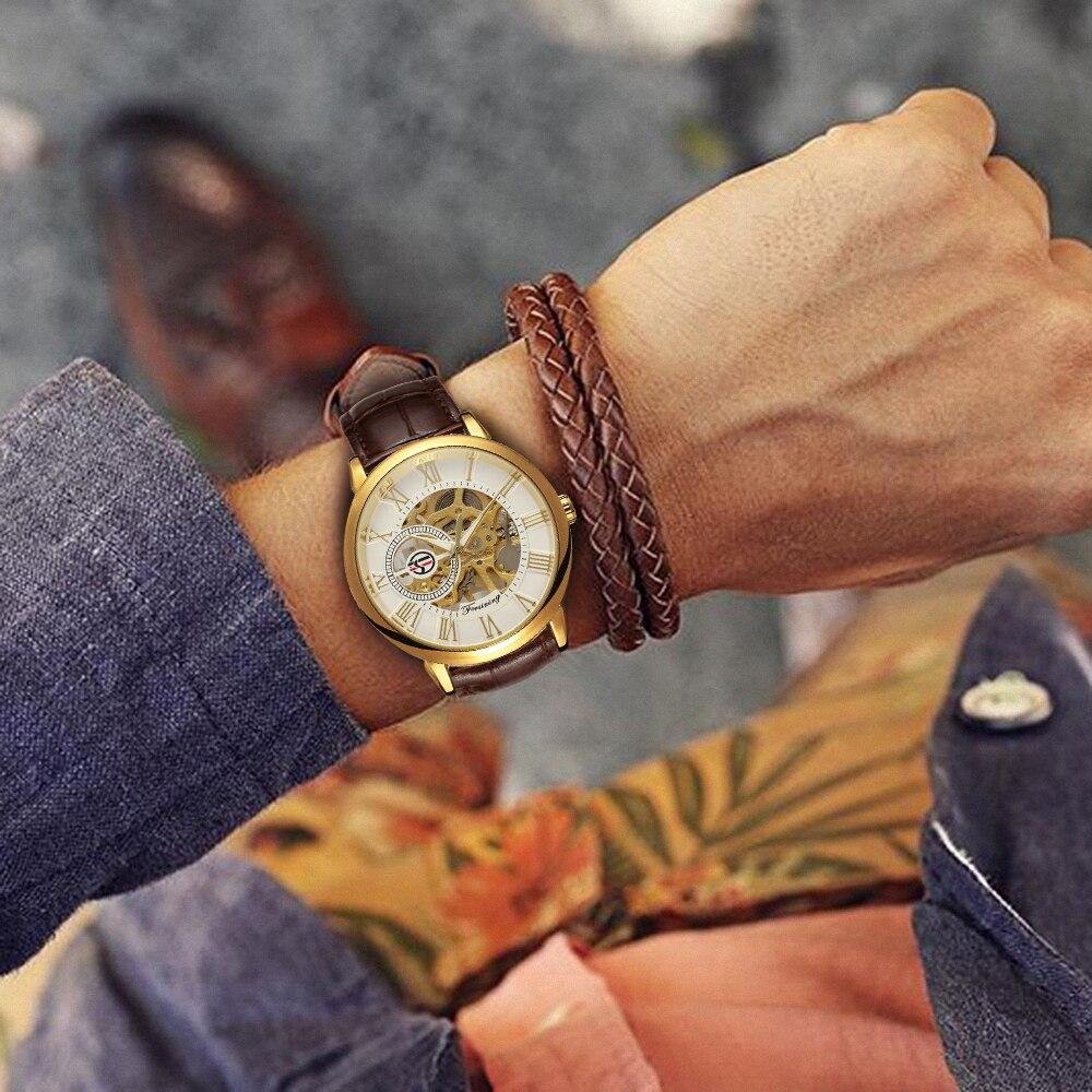 H98658a771d2e469bb6405d8790f388bbc 2019 FORSINING 3D Logo Black Gold Men Mechanical Watch Montre Homme Man Watches Top Brand Luxury Leather WINNER Skeleton Design