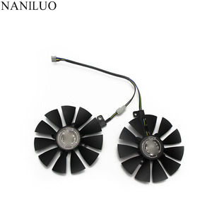 Image 2 - 87MM GTX1060 GTX1070 RX480 Cooler Fan For ASUS GTX 1060 1070 RX 480 Graphics Card  T129215SU PLD09210S12HH 28mm Cooling Fans