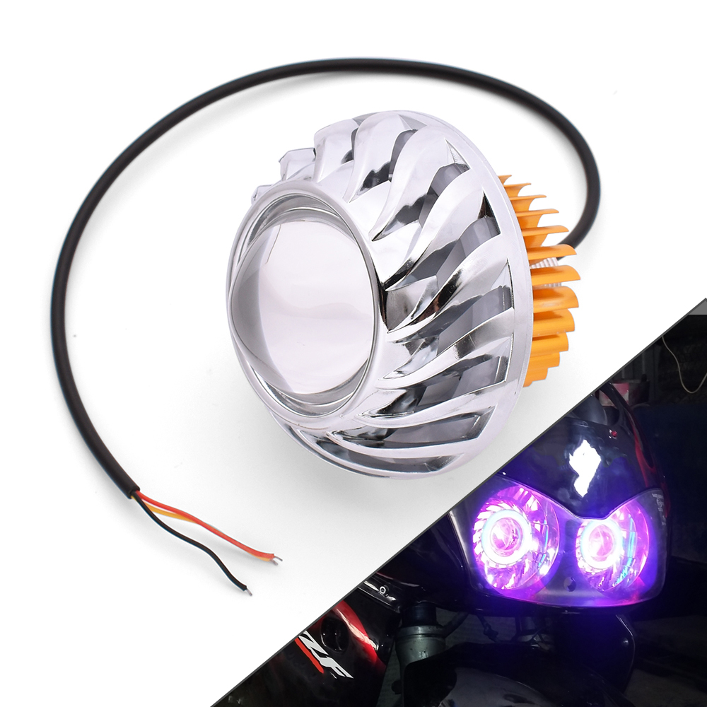 Motorcycle LED Headlights Angel Eyes 34W 2000LM Hi/Lo/Strobe Beam Lamp For BMW F800GS F800GT F800S F800ST Adventure F800 GS/GT/R image