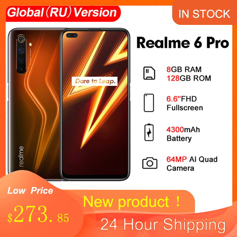 Realme 6 Pro Global Version 6.6'' 8GB 128GB 64MP Cam Snapdragon 720G 90Hz Display 30W Flash Charge 4200mAh NFC 4G Mobile Phone Cellphones  - AliExpress