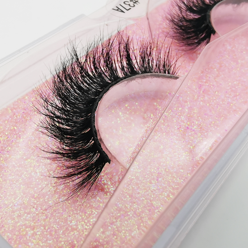 LANJINGLIN 1 Pairs Mink Lashes 100% Cruelty Free Handmade Natural Long False Eyelashes Fluffy Soft Fake Lash Extension Makeup