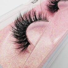 Mink-Lashes Extension Makeup Fluffy Soft LANJINGLIN Free 100%Cruelty Handmade Natural