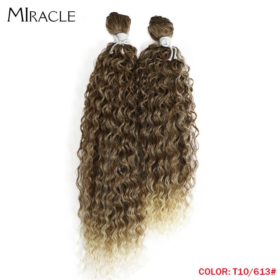 cabelo extensões de cabelo marrom milagre cabelo encaracolado tecer cabelo