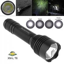 SecurityIng Waterproof LED Flashlight XM-L T6 LED Torch Lamp with 5 Switch Mode and Handle Rope for Household/Outdoor Activities trustfire tr j20 12xcree xm l t6 led 12 6v 5 mode flashlights outdoor