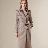 New Spring 2020 Trench Coat For Women European Fashion Double Sided Overcoat Female Long Slim Windbreaker manteau femme LX2627