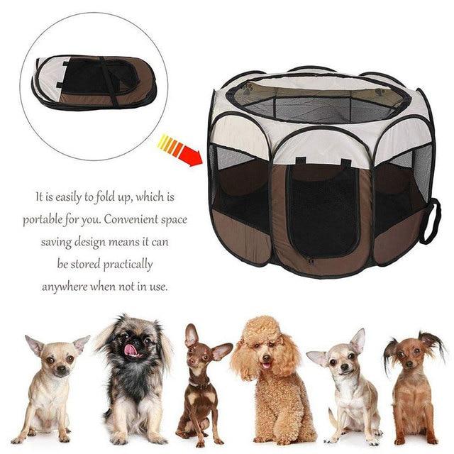 Foldable Puppy Waterproof Outdoor - Indoor Kennel 4