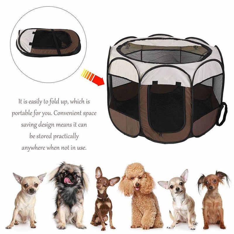 Большой ящик для собак, переносная Складная Клетка для собак, палатки для домашних животных, домики, манеж для щенков, питомник для маленьких больших собак, тренировочный восьмиугольный забор для улицы