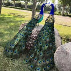 Een paar grote simulatie pauw modellen foam & veer mooie pauw pop ongeveer 120cm