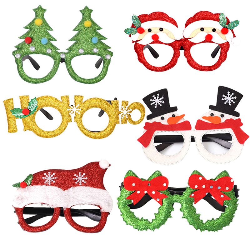 Christmas Decorations Adult Children Toys Santa Claus Snowman Antler Glasses Christmas Decorative Glasses
