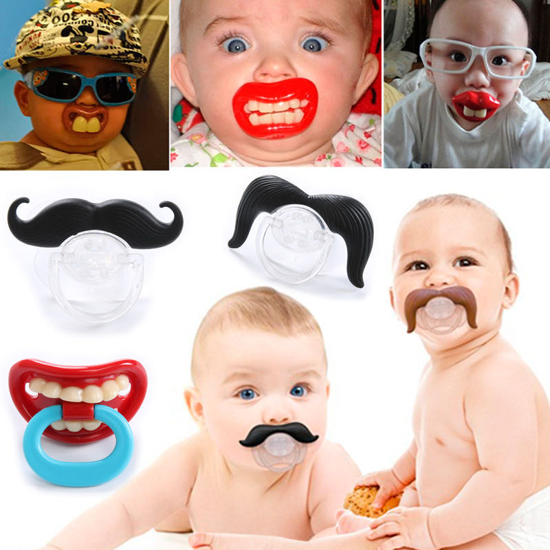 Baby Pacifier Soother Silicone Funny Nipple Dummy Baby Joke Prank Toddler Orthodontic Nipples Teether Pacifier