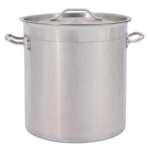 17-115LPremium коммерческий глубокая кастрюля из нержавеющей стали, кастрюля, стейк, суп, кипячение, суповое ведро с ручки для крышки