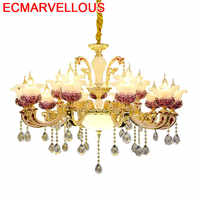 Candiles Colgante moderno decoración nórdica Colgante de cristal Loft lámpara Colgante luminaria Deco casa luz Colgante