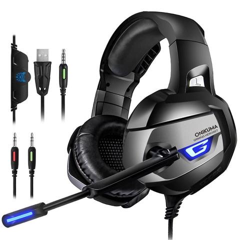 Fone de Ouvido Fone de Jogos com Microfone Led para Computador Novo Jogo Estéreo Microfone Ps4 Xbox um Playstation 4 2020 3.5mm