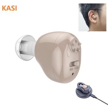 2020 najnowszy Mini aparaty słuchowe z możliwością ładowania Mini wzmacniacz słuchu wzmacniacz dźwięku do ucha aparaty słuchowe akumulator aparatu słuchowego tanie i dobre opinie KASI