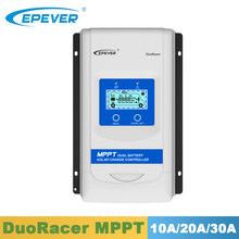 Epever 10A 20A 30A mppt デュアルバッテリー充電コントローラ DR1206N DR2210N DR3210N duoracer シリーズソーラーパネル充電器レギュレータ dds(China)