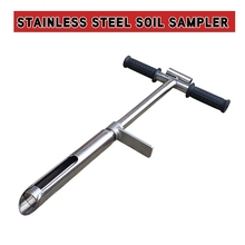 DSPIAE Stainless Steel Soil Sampler With Foot Pedal and Scale Garden Hand Tools Manual Aerators Scoops Crowbars 2021 New