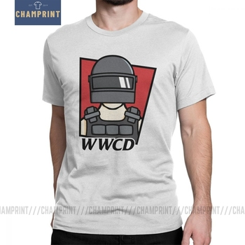 PUBG WWCD Winner Winner Chicken Dinner T-Shirts for Men Short Sleeves Vintage Tee Shirt 100% Cotton Clothes Designs T Shirts image