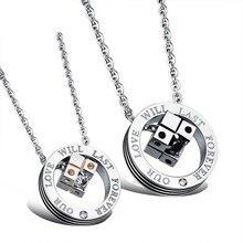 Women Men Creative Titanium Steel Pendant Necklace Fashion Exquisite Jewelry With Dice pendants Choker For Lovers