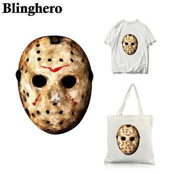 CA1159 Friday the 13th Horror Heat Transfers Iron-On Vinyl Ironing Stickers Costumes Thermal Patches Kids Pacth
