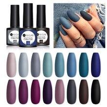 UR SUGAR 7.5ML Dark Blue Matte Top Coat Color UV Nail Gel Polish Semi Permanent Soak Off UV LED Gel Nail Gel Nail Art DIY Design