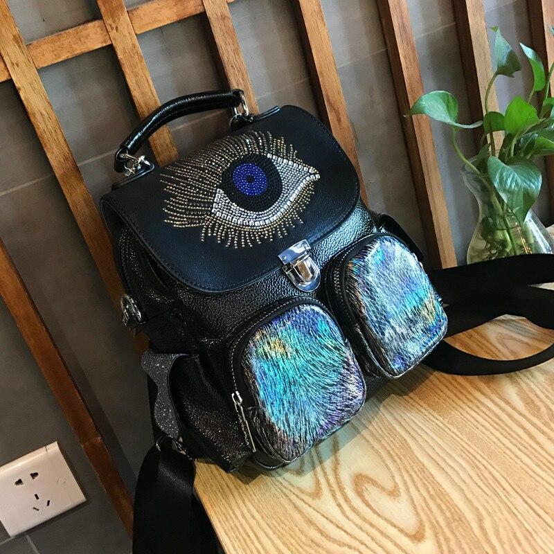 Тренд, универсальный рюкзак, маленький рюкзак, новинка зимы 2019, женская сумка в студенческом стиле, модная контрастная, горячая, стразы, дорожная сумка|Рюкзаки|   | АлиЭкспресс