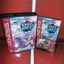 다크 워터 US 커버 박스 및 설명서 Sega Megadrive Genesis 비디오 게임 콘솔 16 비트 MD 카드