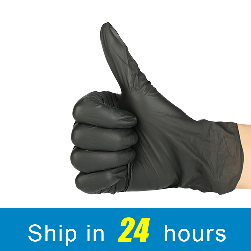 100Pcs Color Disposable Nitrile Latex Universal Gloves Powder Free Ambidextrous Finger Textures Anti-Pollution For Clean