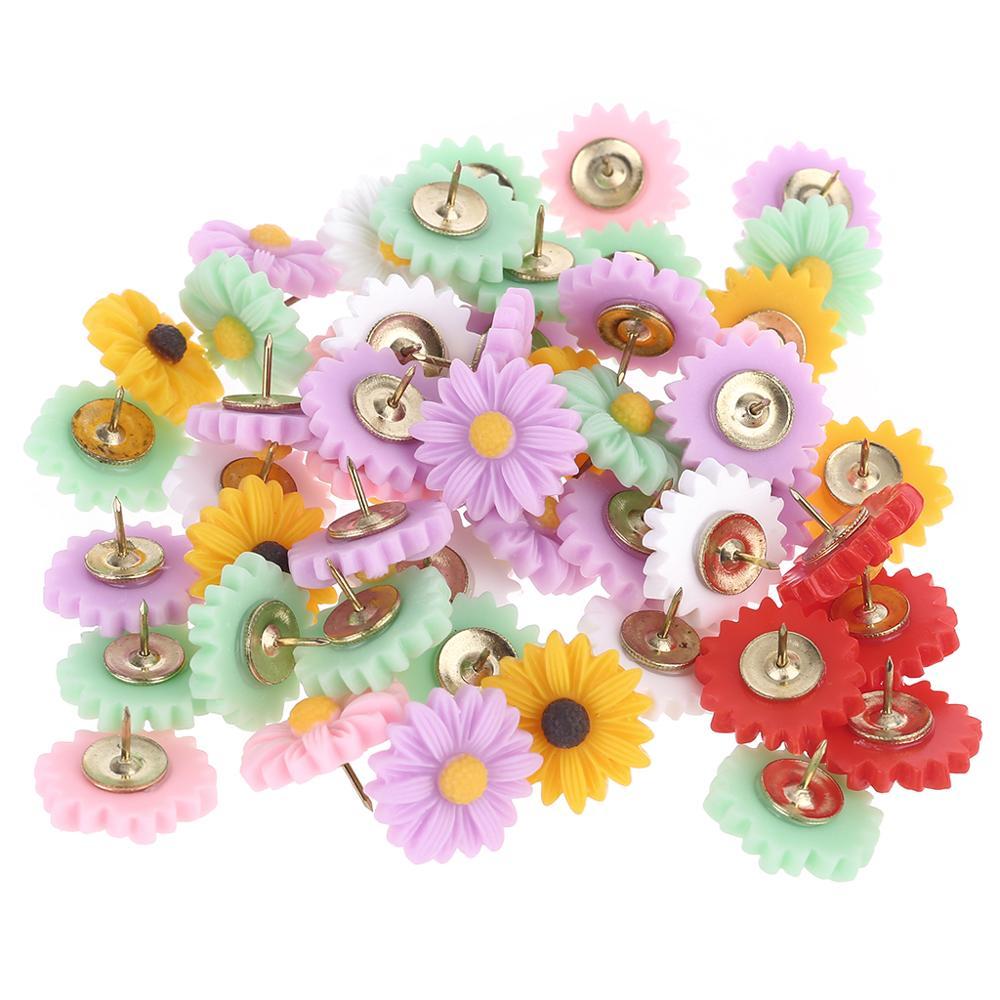 50PCS Decorative Cute Thumb Tacks Thumb Nails Push Pins Push Pins Soft Flat for Photos Wall Maps Bulletin Board or Corkboards