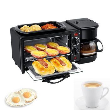 Wielofunkcyjne urządzenie do robienia śniadania piekarnik boczek tosty piekarnik ekspres do kawy 3 w 1 ekspres maszyna urządzenie śniadaniowe piekarnik jajko sadzone tanie i dobre opinie 600W 220V CN (pochodzenie) Przecieranie Pokrywa blokująca Łopatka HL-9L STAINLESS STEEL 45 * 18 * 19cm 450W about 4 6kg