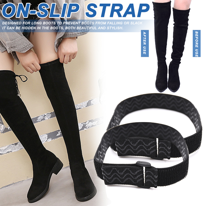 Women Boots Belt Strap Anti Slip Shoe Laces Adjustable Back Adhesive Tape H9