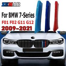 ZEMAR 3 uds ABS para BMW F01 F02 G11 G12 7 de la serie 2009 de 2010-2019, 2020 de 2021 rejilla de competición para coche de Trim Clip M Accesorios